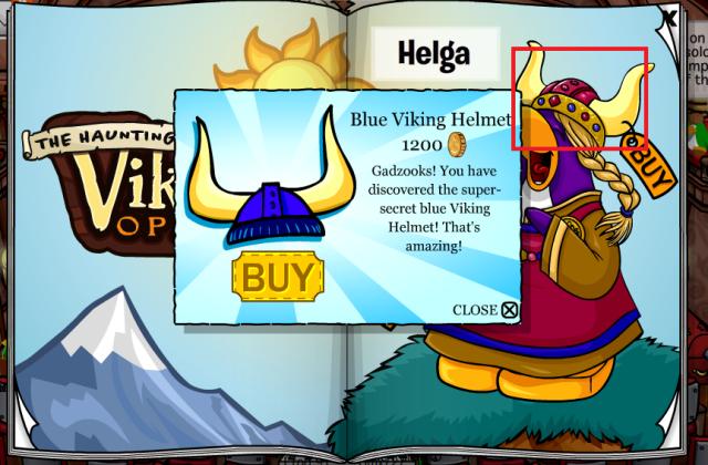 to get gold viking helmet