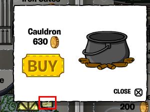 Creepy cottage window for cauldron